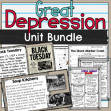 Great Depression Unit Bundle SS5H3