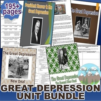 Great Depression Unit Bundle (U.S. History)