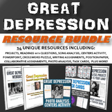 Great Depression - Unit (PPT, Essay, Project, Assignment, Song Analysis)