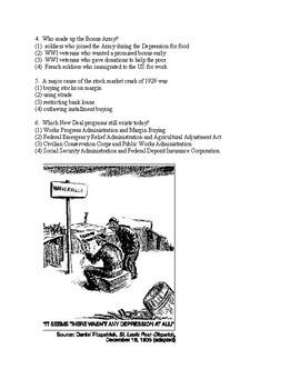 Great Depression-Unit Test