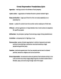 Great Depression Vocab Quiz