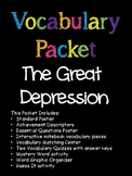 Great Depression Vocabulary Packet