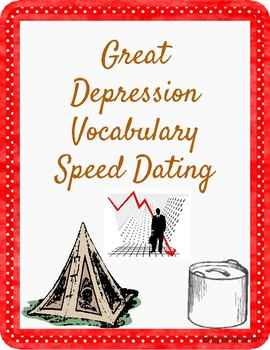 Great Depression Vocabulary Speed Dating