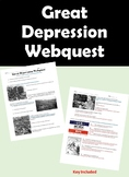 Great Depression Webquest - KEY Included