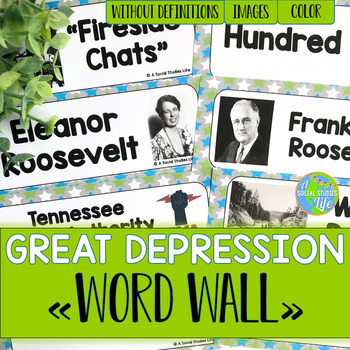 Great Depression Word Wall without definitions