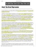 Great Depression Worksheet