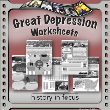 Great depression worksheets history in focus