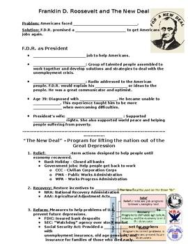 Great Depression Worksheets