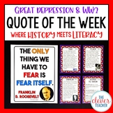 Great Depression and World War 2 - Task Cards & Literacy Strategies
