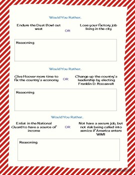 Great Depression Would You Rather? Scenarios