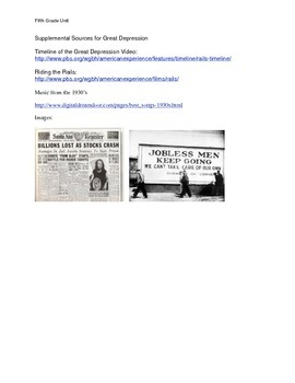 Great Depression and Civil Rights Unit