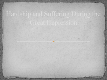 Great Depression and Dust Bowl Powerpoint