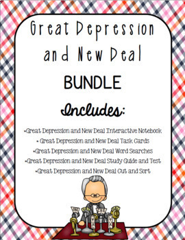 Great Depression and New Deal BUNDLE