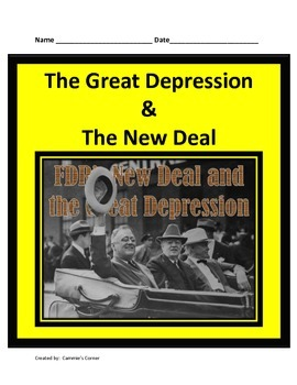 Great Depression and New Deal STUDY GUIDE