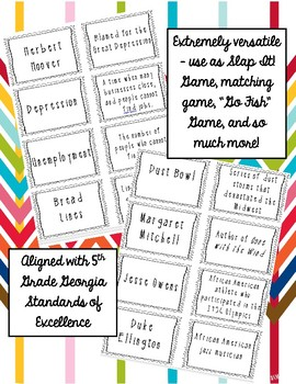 """Great Depression and New Deal """"Slap It!"""" Review Game"""