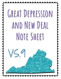 VS.9 Great Depression and New Deal notes