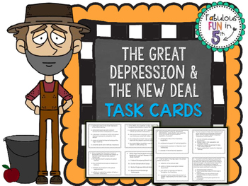 Great Depression and The New Deal Task Cards