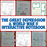 Great Depression and World War II Interactive Notebook Pages