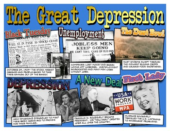 Great Depression and World War II Poster Set