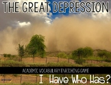 "Great Depression and the 1930s  ""I Have Who Has"" Interacti"