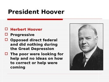 Great Depression and the New Deal Power Point