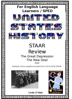 Great Depression and the New Deal STAAR review questions for SPED and ELL