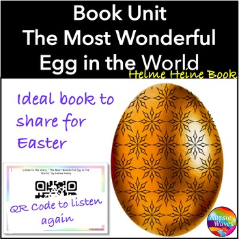 EASTER Reading Center Tasks and QR Code book The Most Wonderful Egg in the World
