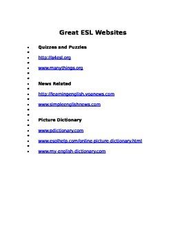 Great ESL Websites
