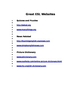 Great ESL Websites