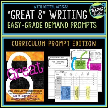 """""""Great Eight"""" Quick Demand Prompt Assessments:  Set 4 """"Curriculum Prompts"""""""