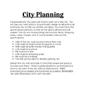 Great End of Year City Planning Project