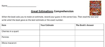 Great Estimations, by Bruce Goldstone, Comprehension