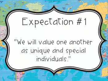 Great Expectations: 8 Expectations for Living Poster Set (Maps)