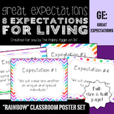 """Great Expectations: 8 Expectations for Living """"Rainbow"""" Poster Set"""