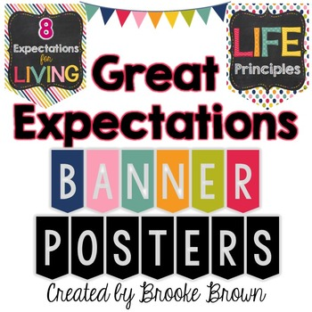 Great Expectations Banner Posters {8 Expectations for Livi
