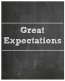Great Expectations Chalkboard Posters