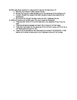 Great Expectations Chapters 15-30 Quiz