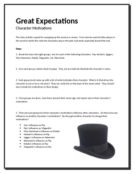 Great Expectations Character Motivations