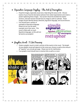 Great Expectations:  Differentiated Summative Project Options