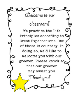 Great Expectations Door Greeter Sign