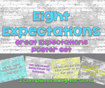 Great Expectations - Eight Expectations Posters - Classroom Rules