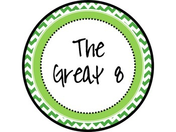 Great Expectations Green and Pink Chevron Posters