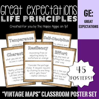 Great Expectations: Life Principles Poster Set (Vintage Maps)