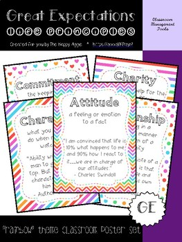 Great Expectations: Life Principles Poster Set (Rainbow)