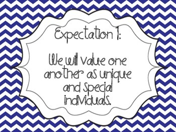 Great Expectations Navy and Red Chevron Posters