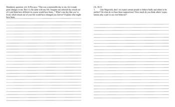 Great Expectations Response Journal