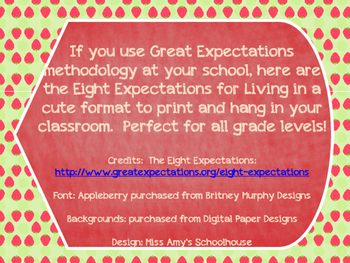 Great Expectations- Strawberry Theme