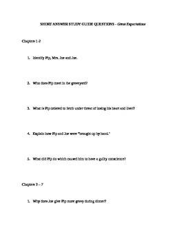 Great Expectations - Study Guide