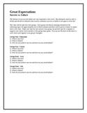 Great Expectations:  Success vs. Failure pre-reading activity
