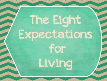 Great Expectations- The Eight Expectations For Living Posters- Shabby Chic- Aqua